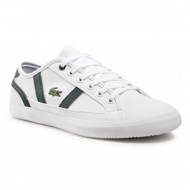 Sneakersy LACOSTE - Sideline 0721 1 Cuj 7-41CUJ00151R5 Wht/Dk Grn