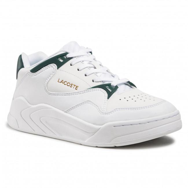 Sneakersy LACOSTE - Court Slam 0721 1 Sfa 7-41SFA0076 Wht/Dk Grn