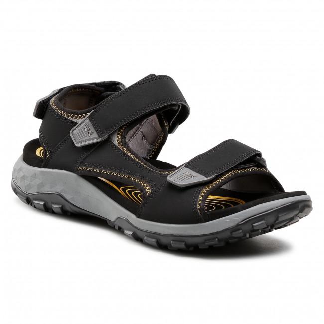 Sandále JACK WOLFSKIN - Rocky Path Sandal M 4039351-6055060 Black/Burly Yellow Xt