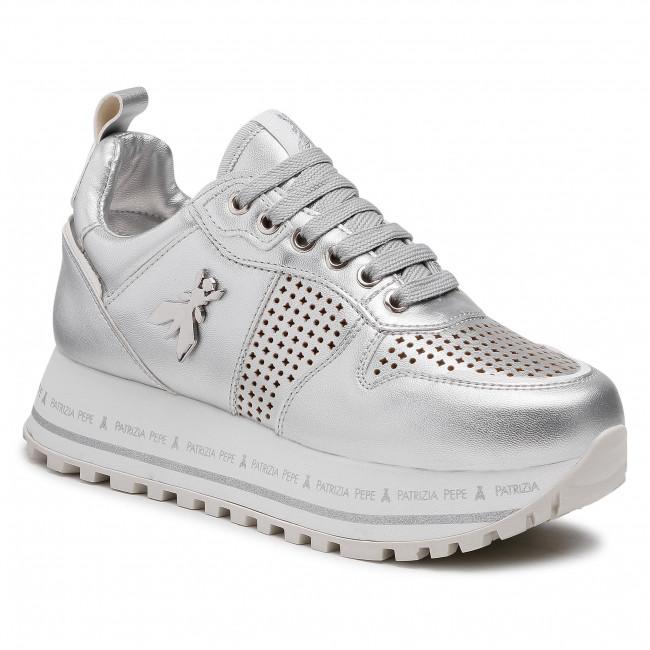 Sneakersy PATRIZIA PEPE - PPJ65.30 Argento