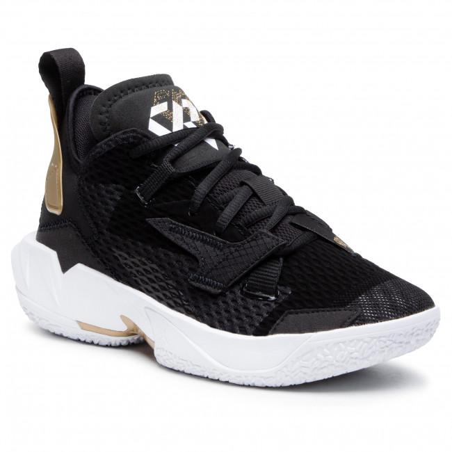 Topánky NIKE - Jordan Why Not Zero.4 (GS) CQ9430 001 Black/White/Metallic Gold