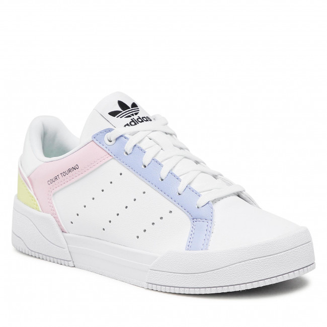 Topánky adidas - Court Tourino J H00769  Ftwwht/CVioton/Clpink