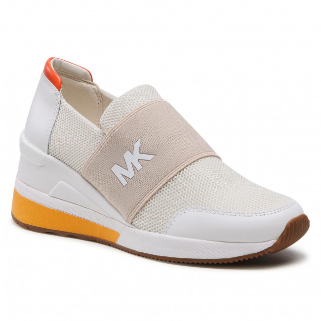 Sneakersy MICHAEL MICHAEL KORS - Felix Trainer 43S1FXFS3D Cream Multi