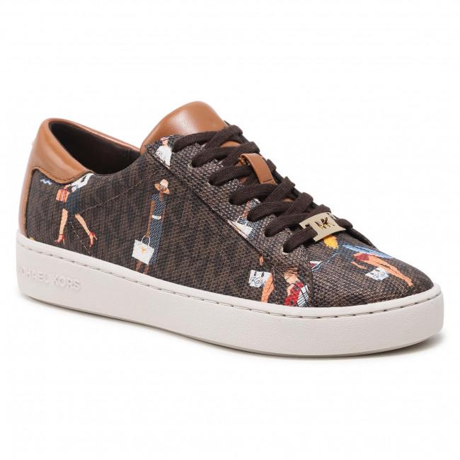 Sneakersy MICHAEL MICHAEL KORS - Keaton Sneaker 43S1KTFS2B Brn/Plgold