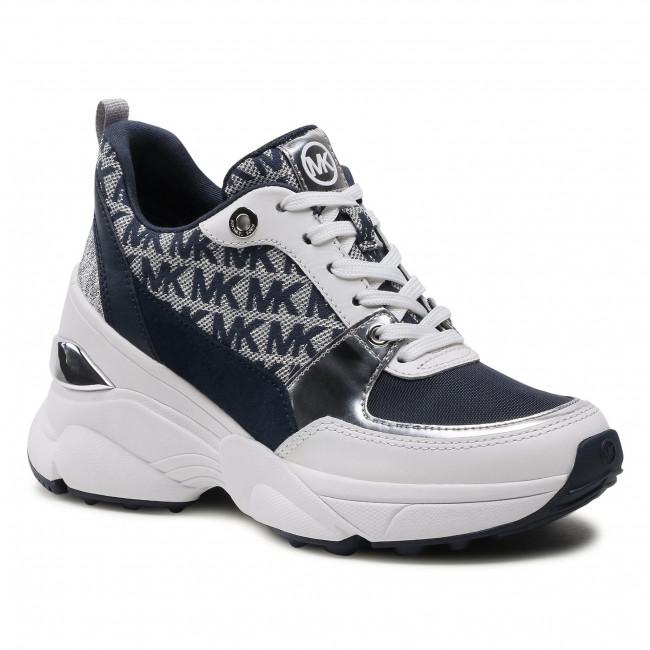 Sneakersy MICHAEL MICHAEL KORS - Mickey Trainer 43S1MKFS1Y Navy/Optwht
