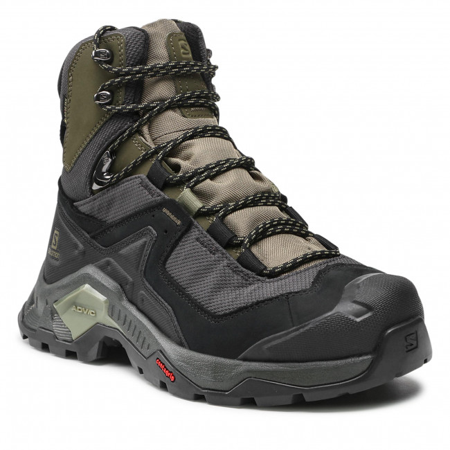 Trekingová obuv SALOMON - Quest Element Gtx GORE-TEX 414571 28 V0 Black/Deep Lichen Green/Olive Night