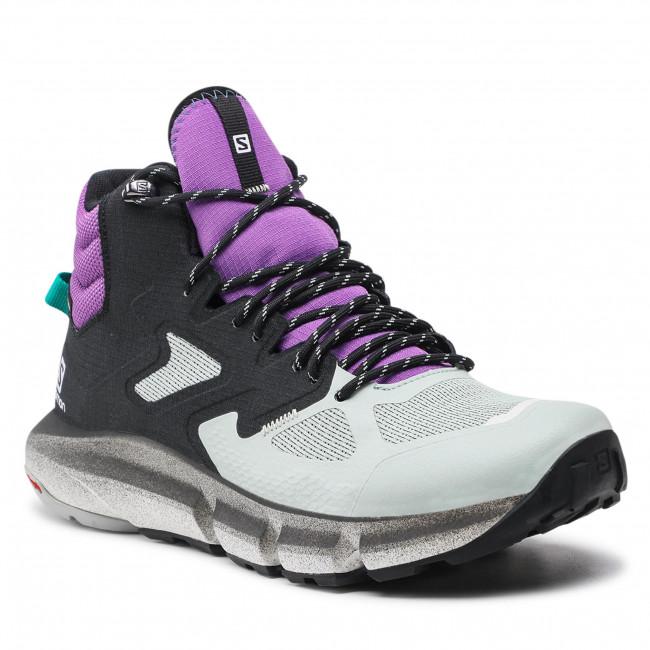 Trekingová obuv SALOMON - Predict Hike Mid Gtx GORE-TEX 414610 27V0 Black/Aqua Gray/Royal Lilac