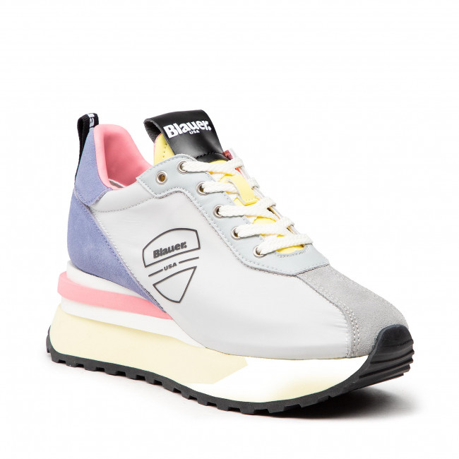 Sneakersy BLAUER - S1MABEL01/NYP Silver/Lilac