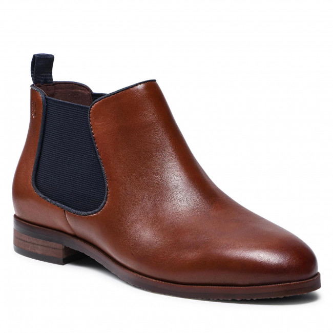 Kotníková obuv s elastickým prvkom CAPRICE - 9-25303-27 Cognac/Ocean 387