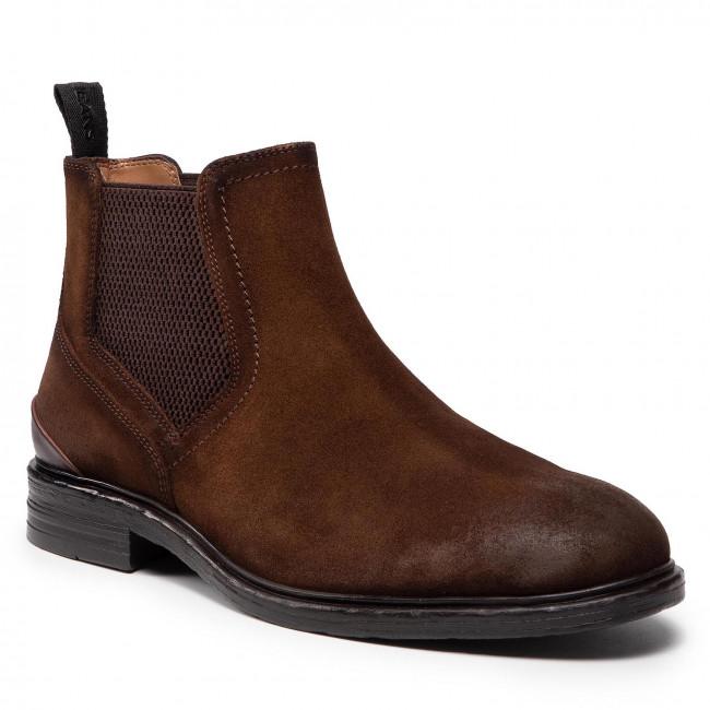 Kotníková obuv s elastickým prvkom PEPE JEANS - Oregon Chelsea PMS50212 Cognac 879