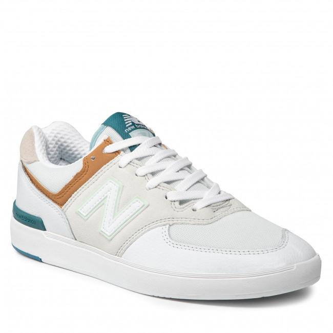 Sneakersy NEW BALANCE - AM574WWN  Biela