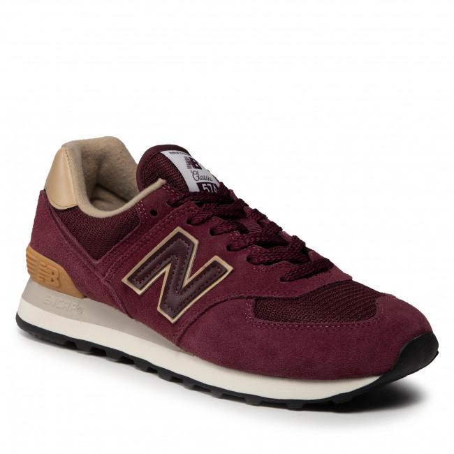 Sneakersy NEW BALANCE - ML574BG2 Bordová