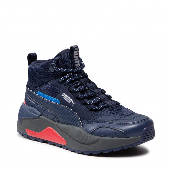 Sneakersy PUMA - X-Ray 2 Square Mid Wtr Jr 382653 01 Peacoat/Future Blue/H R Red