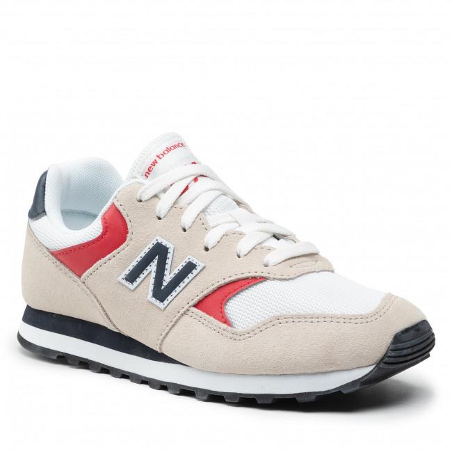Sneakersy NEW BALANCE - ML393VA1  Béžová Biela