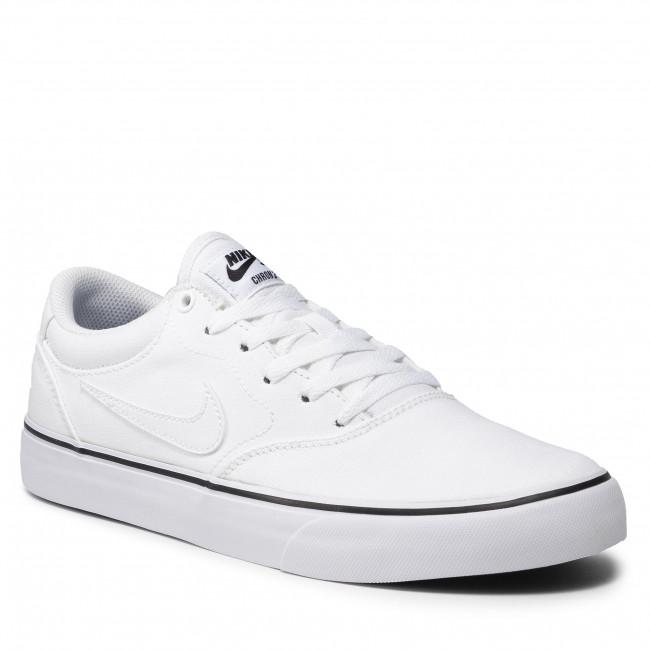 Topánky NIKE - Sb Chron 2 Cnvs DM3494 102 White/White/White