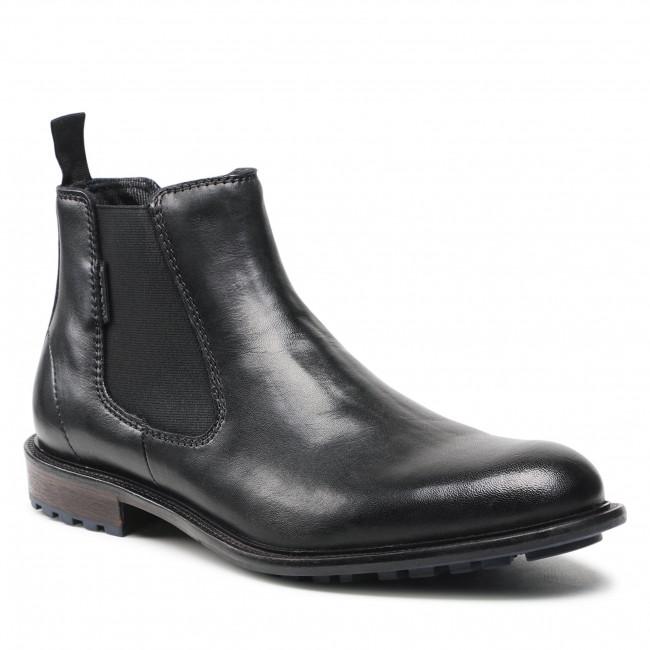 Kotníková obuv s elastickým prvkom BUGATTI - 311-A0A32-1000 Black 1000