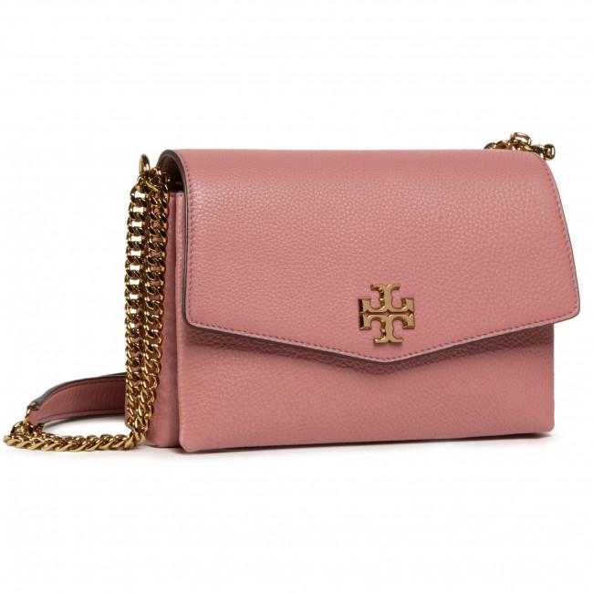 Kabelka TORY BURCH - Kira Pebbled Small 74643 Pink Magnolia 651