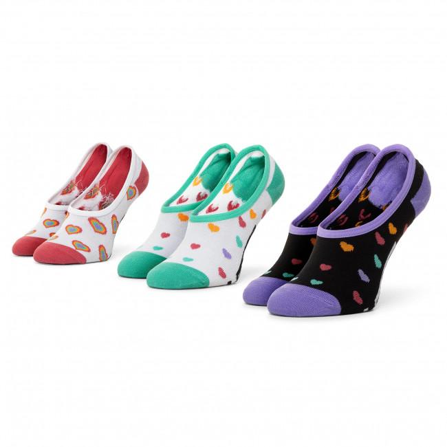 Súprava 3 párov kotníkových ponožiek dámských VANS - Rainbow Hearts Canoodles VN0A4S7Y4481  Multi