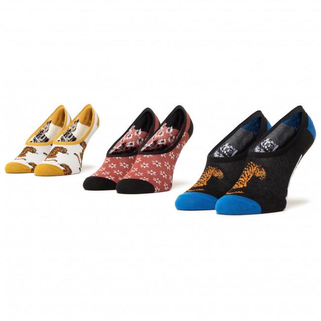 Súprava 3 párov kotníkových ponožiek dámských VANS - Tiger Floral Canoodles VN0A4S7S4481  Multi