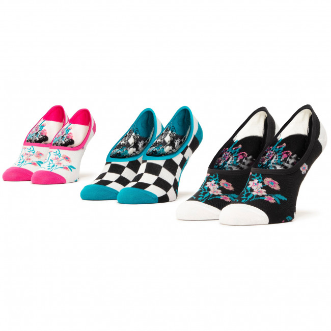 Súprava 3 párov kotníkových ponožiek dámských VANS - Beauty Floral Canoodle VN0A4S7V4481  Multi