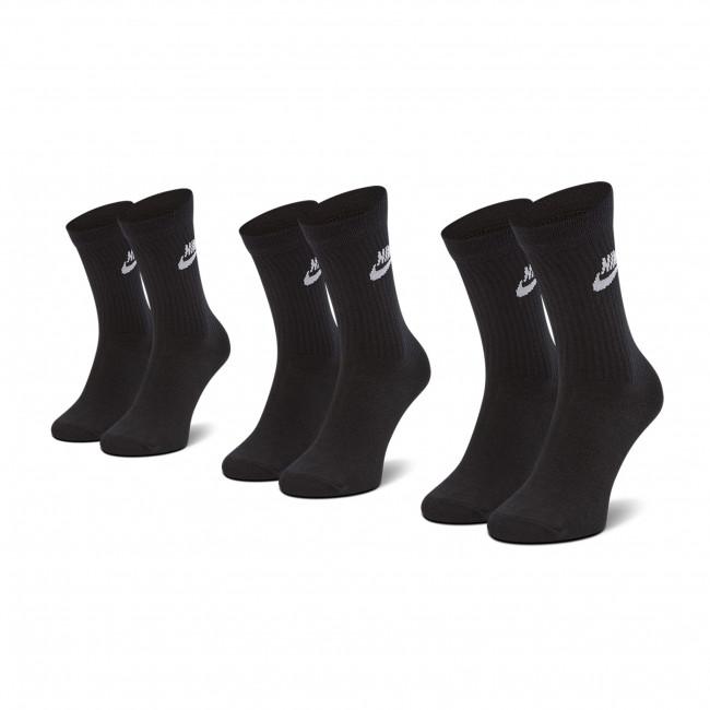 Súprava 3 párov vysokých ponožiek unisex NIKE - SK0109 010 Čierna