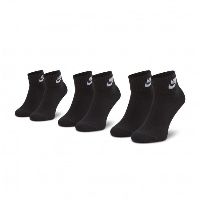Súprava 3 párov vysokých ponožiek unisex NIKE - SK0110-010 Čierna