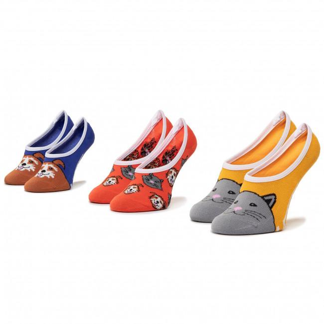 Súprava 3 párov krátkych ponožiek detských VANS - 3Pk Bud Cano VN0A4DSN4481 r.31.5-36 Multi