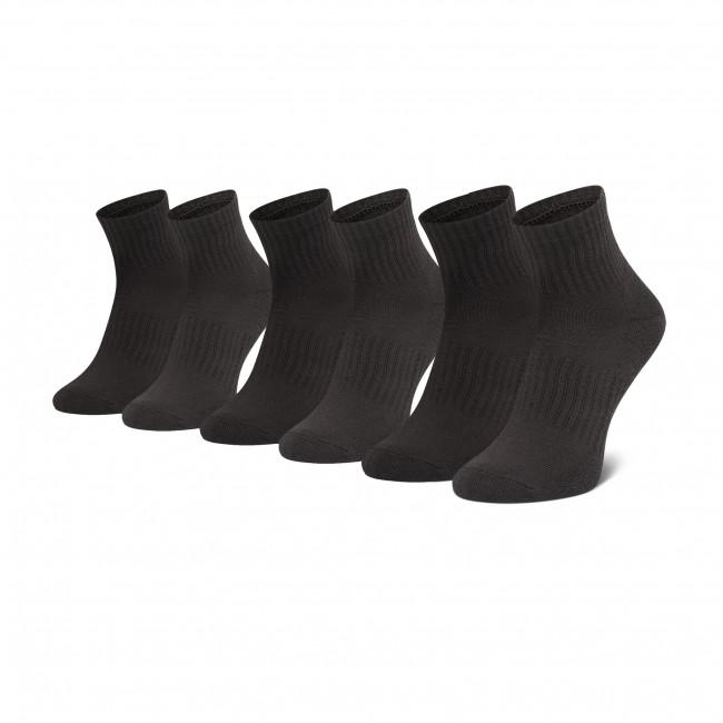 Súprava 3 párov kotníkových ponožiek unisex UNDER ARMOUR - Core Qtr 3pk 1358344 001