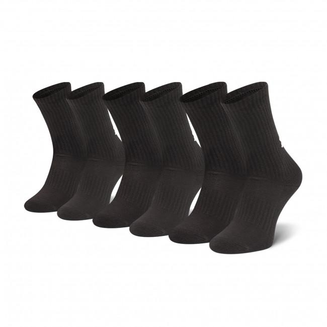 Súprava 3 párov vysokých ponožiek unisex UNDER ARMOUR - Core Crew 3pk 1358345 001