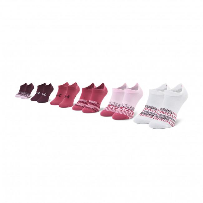 Súprava 6 párov kotníkových ponožiek dámskych UNDER ARMOUR - Ua Essential 1332981-678 Farebná Fialová
