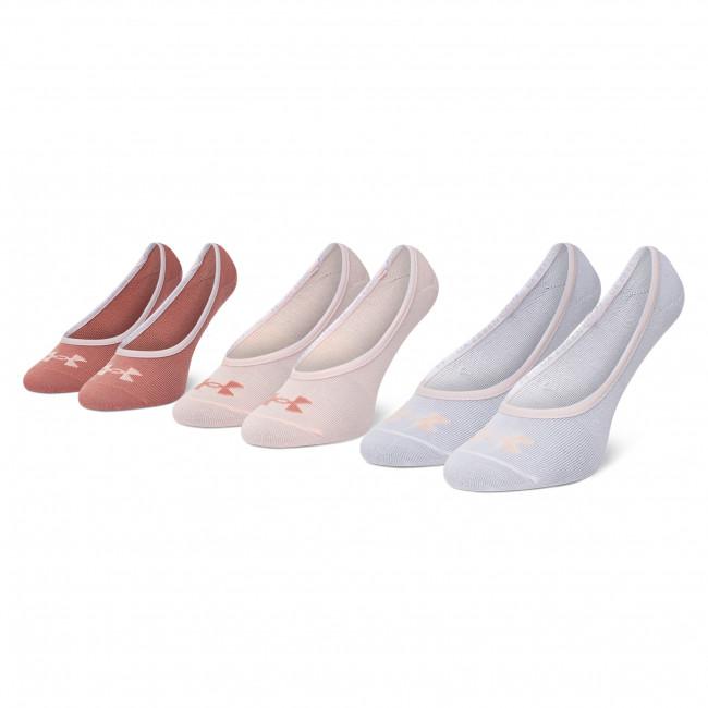Súprava 3 párov kotníkových ponožiek dámských UNDER ARMOUR - Essential LOLO Liner 3 Pk 1361148-658 Multi