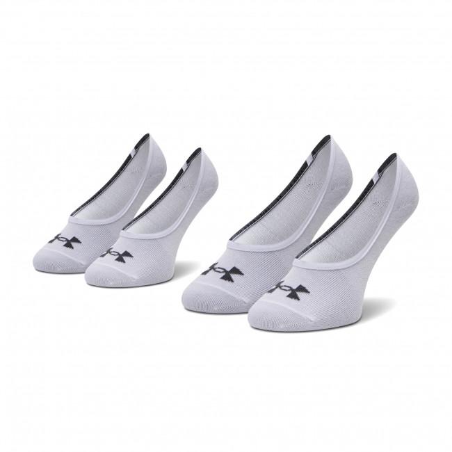 Súprava 3 párov kotníkových ponožiek dámských UNDER ARMOUR - Essential Lolo Liner 1361148-100 Biela