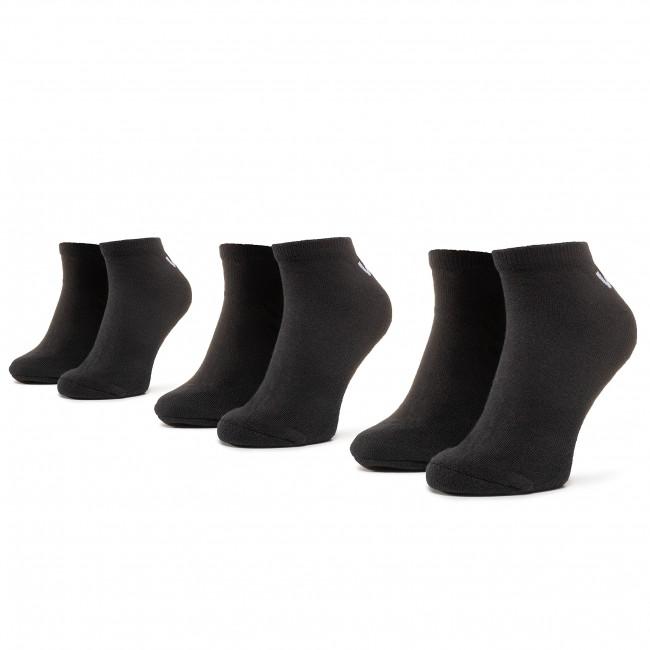 Súprava 3 párov kotníkových ponožiek unisex VANS - Classic Low VN000XS0BLK r.38,5/42 Black