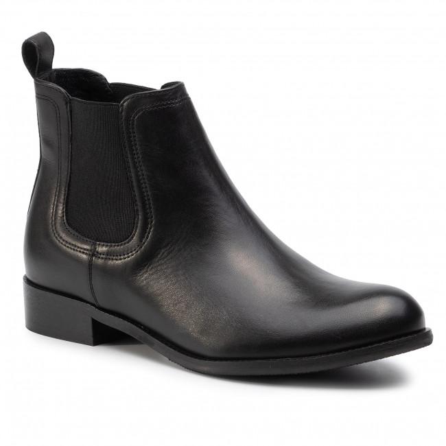 Kotníková obuv s elastickým prvkom GINO ROSSI - 4768-01 Black