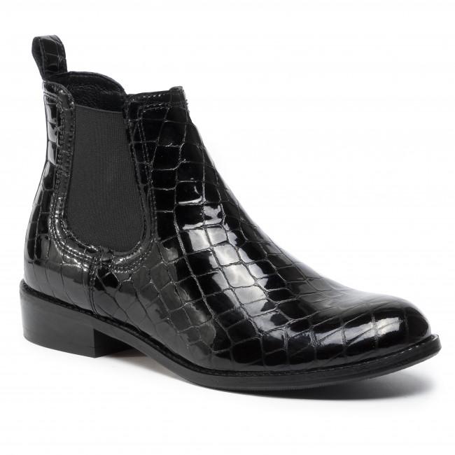 Kotníková obuv s elastickým prvkom GINO ROSSI - 4768-04 Black