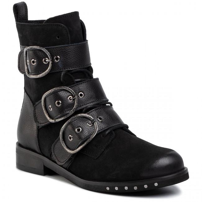 Členková obuv GINO ROSSI - 7586-07 Čierna