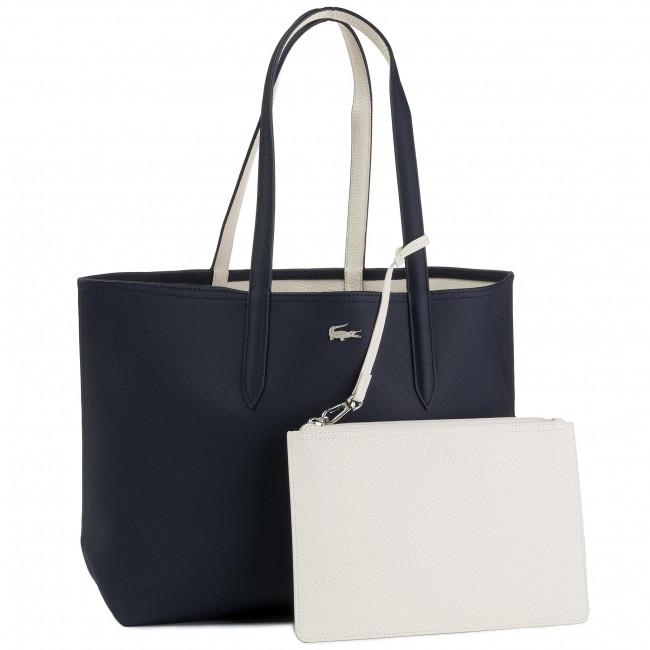 Kabelka LACOSTE - Shopping Bag NF2142AA Dark Sapphire Marshmallow C93