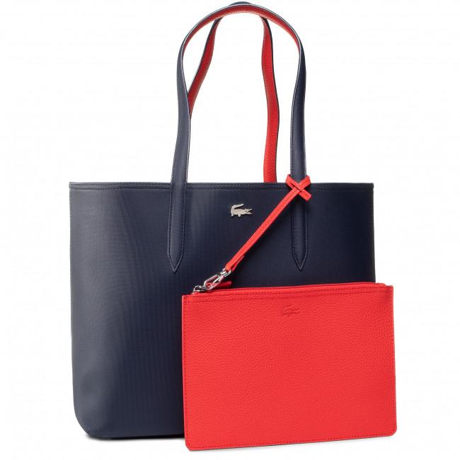 Kabelka LACOSTE - Shopping Bag NF2142AA Peacoat Salsa B50