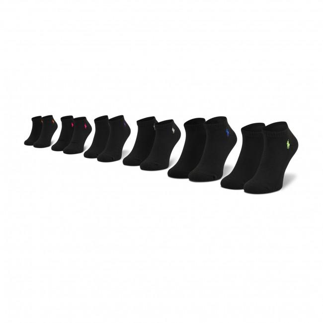 Súprava 6 párov kotníkových ponožiek unisex POLO RALPH LAUREN - 455747502005 r. OS Black Assorted