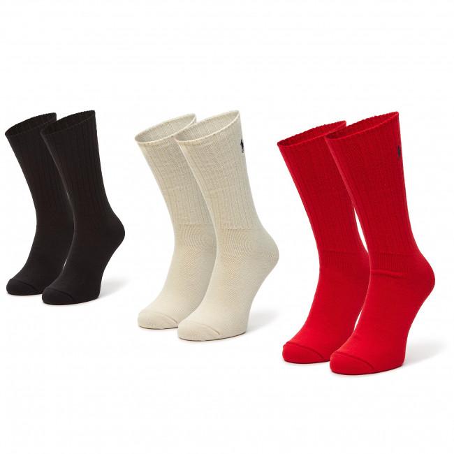 Súprava 3 párov vysokých ponožiek unisex POLO RALPH LAUREN - 449824758001 r.OS Tarrd
