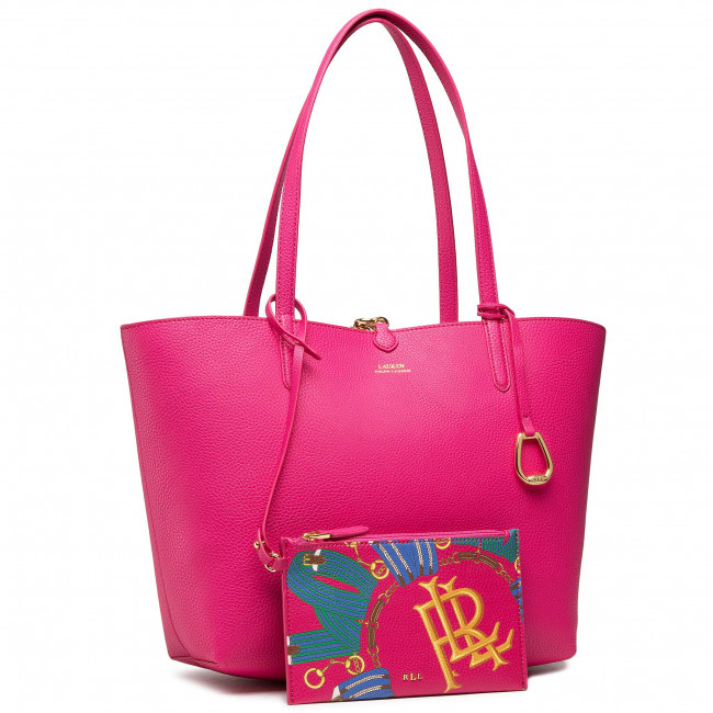 Kabelka LAUREN RALPH LAUREN - Rvrsble Tote Medium 431795329033  Pink Multi