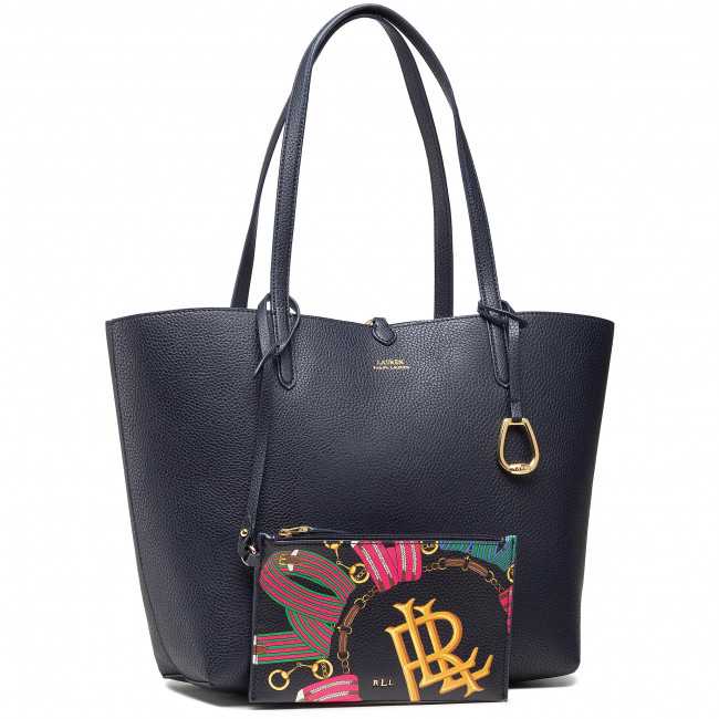 Kabelka LAUREN RALPH LAUREN - Rvrsble Tote Medium 431795329033  Navy Multi