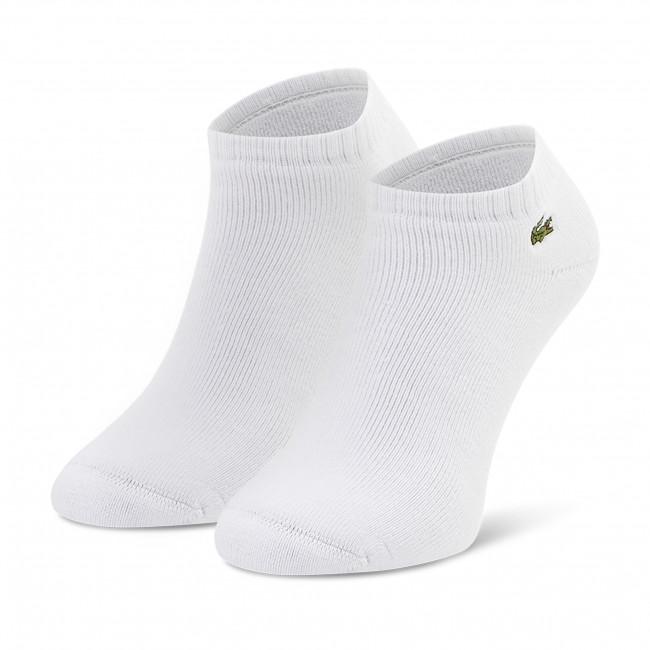 Ponožky Kotníkové Unisex LACOSTE - RA2061 Blanc 001/Gris Chine CCA