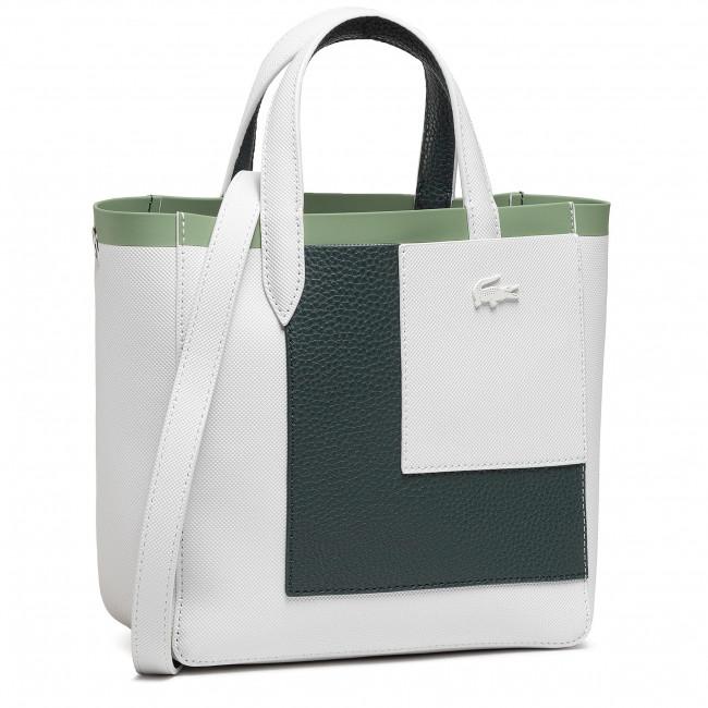 Kabelka LACOSTE - M Shopping Bag NF3541AS Farine Plumage/Mistletoe G47