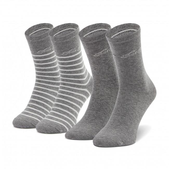 Súprava 2 párov vysokých ponožiek dámskych TOM TAILOR - 9880 Grey 150