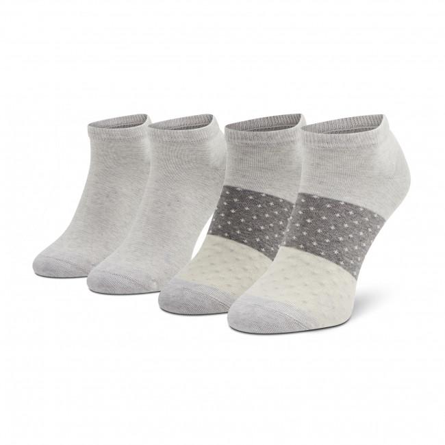 Súprava 2 párov kotníkových ponožiek dámskych TOM TAILOR - 97159 Light Grey