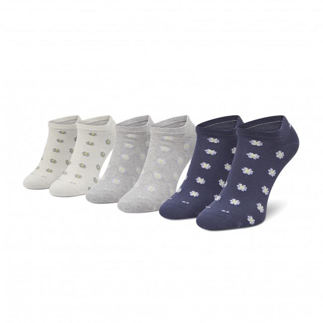 Súprava 3 párov kotníkových ponožiek dámskych TOM TAILOR - 97160 Flint Stone