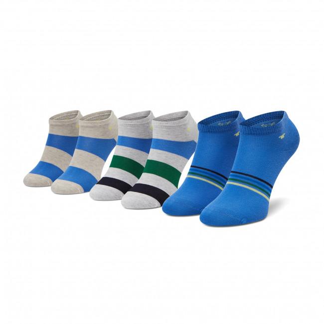 Súprava 3 párov kotníkových ponožiek detských TOM TAILOR - 93136 Sea Blue 529