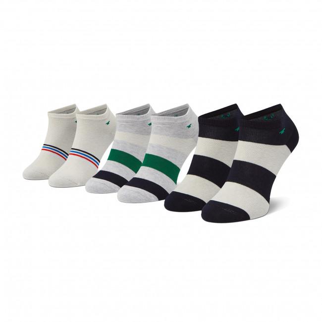 Súprava 3 párov kotníkových ponožiek detských TOM TAILOR - 93136 Dark Navy  545