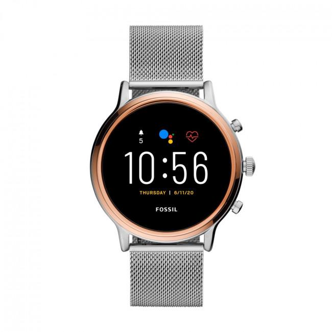 Smart hodinky FOSSIL - Julianna Hr FTW6061 Silver/Gold